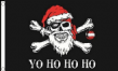 5ft x 3ft Fabric Large Yo Ho Ho Ho Festive Christmas Pirate Santa Flag Flags